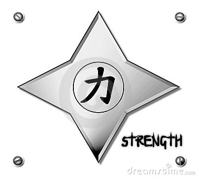 Chinese star with strength symbol plan background
