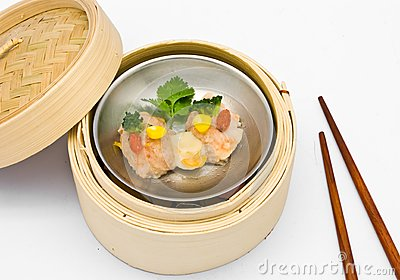 Chinese steamed dimsum Scallops