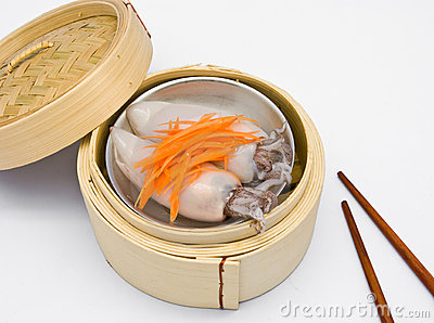 Chinese steamed dimsum squid