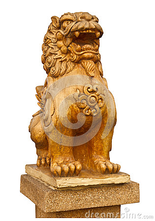 Free Chinese Stone Lion Statue- The Symbol Of Power For Chinese Stock Image - 31179031