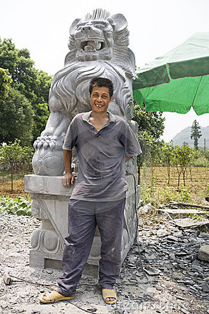 Chinese Stone Sculpturing Master Craftsman