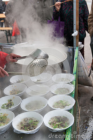 Chinese street food - soup