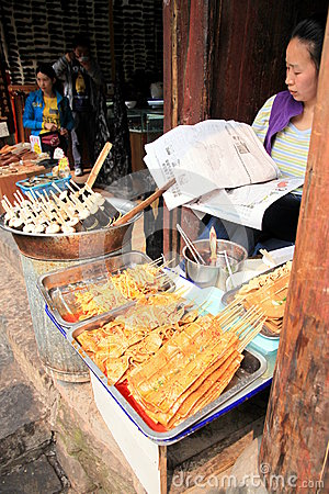 Chinese Street Food Vendor Editorial Stock Image