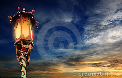Chinese street lamp