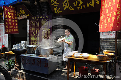 Chinese Street restaurants Editorial Photography