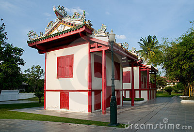 Chinese style buildings at Bang Pa In, Thailand