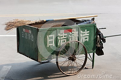 Chinese style cleaning cart