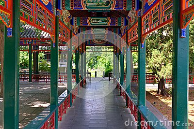 Chinese-style corridor