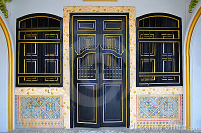 Chinese style door