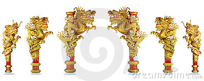 Chinese style gold dragon 2012 background