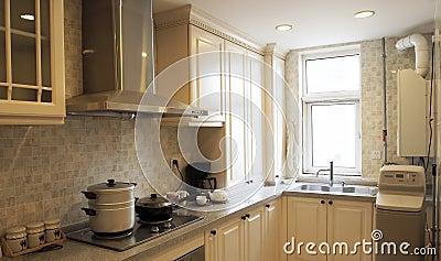 Chinese-style kitchen.