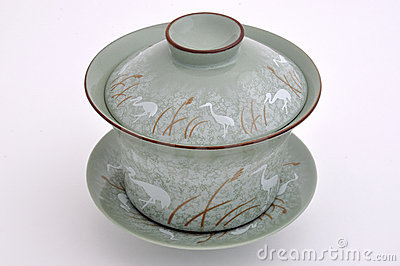 Chinese style painting tea cup set