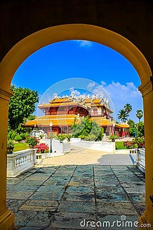 Chinese style palace, Bang-Pa-In Palace at Ayudhaya province, Th