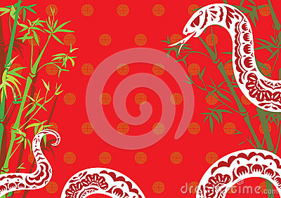 Chinese style snake year design background