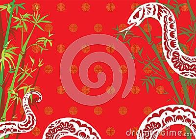 Chinese style snake year design background
