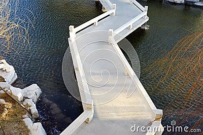 Chinese style winding bridge