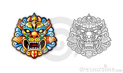 Chinese symbolic masks