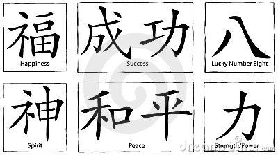 Chinese Symbols and Letters
