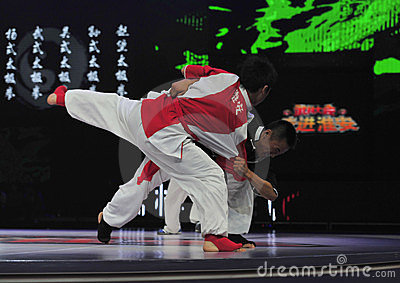Chinese taiji kung fu game Editorial Image