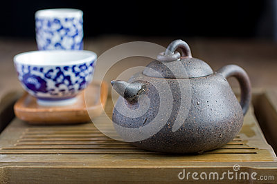 Chinese tea pot made of yixing pottery