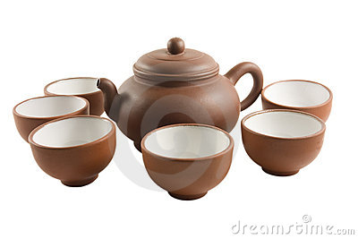 Chinese Tea set isolated