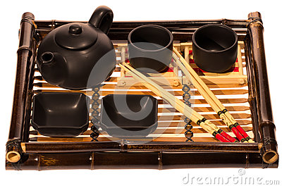 Chinese Tea Set with Teapot and cups