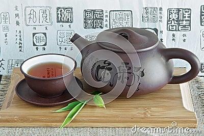 Chinese teapot and tea