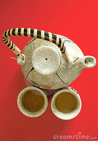 The Chinese Teapot With Two Cups