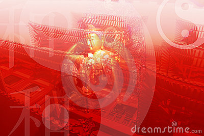 Chinese Temple Abstract Background Wallpaper