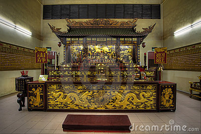 Chinese Temple Altar of Gods
