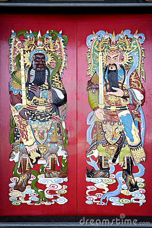 Free Chinese Temple Doors Stock Photos - 5262103