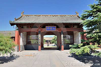 Chinese temple garden