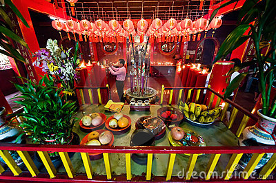 Chinese temple interior