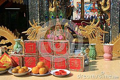 Chinese temple, Rangsit, Bangkok, Thailand.