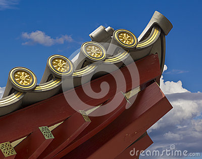 Chinese Temple Roofline detail