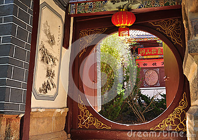 Chinese Temple round gate