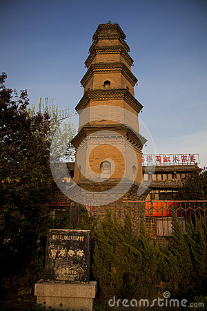 Chinese Temple Tower