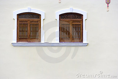 Chinese Temple Windows