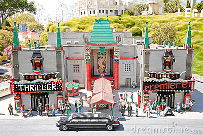 Chinese Theatre at Legoland Editorial Photography