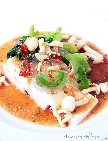 chinese tofu with xo sauce