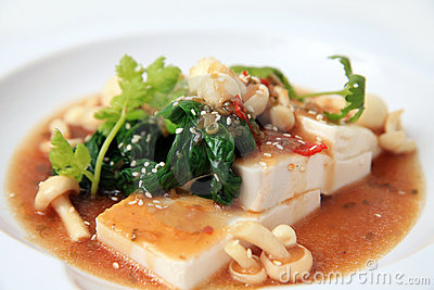 Chinese tofu with xo sauce