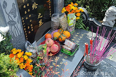 Chinese Tomb sweeping Editorial Stock Image