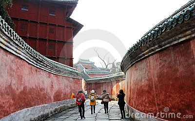 Chinese tour sites Editorial Stock Image
