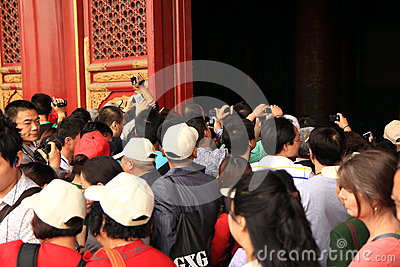 Chinese tourists Beijing Forbidden city  Editorial Stock Image