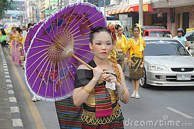Chinese Tradition at Hat Yai Loyalty Parade Editorial Stock Image