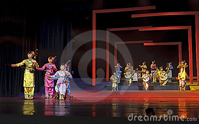 Chinese traditional folk instrumental concert Editorial Stock Image