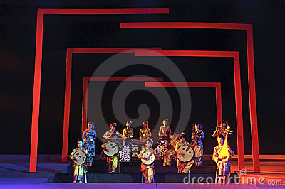 Chinese traditional folk instrumental concert Editorial Stock Photo
