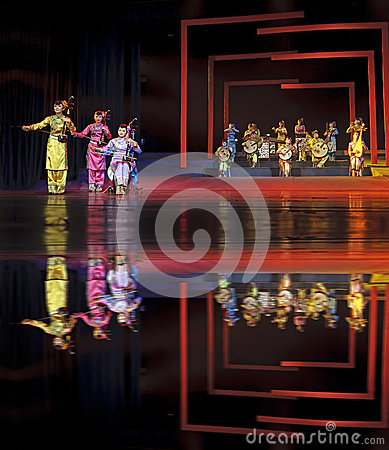Chinese traditional folk instrumental concert performance Editorial Stock Image