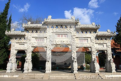 Chinese traditional gate tower