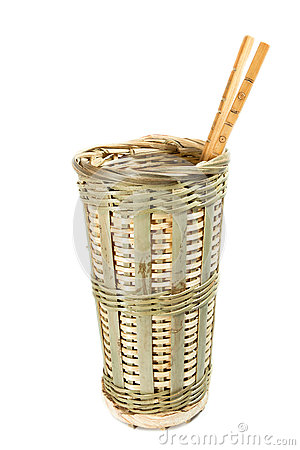 Chinese traditional handmade wicker basket container chopsticks